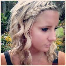 casual shaggy hairstyles done with curlingwands easy hairdo with french braid and curling wand curl it gurl