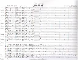Count Basie Big Band Charts All Of Me Basie Count Big Band Era Transcriptions By Composer