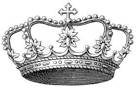 vintage clip art image delicate princess crown the graphics fairy