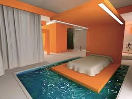 cool bedrooms with bed floating in pool big picture resolution
