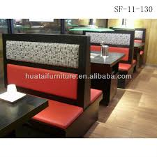 Restaurant Banquette Seating For Sale Commercial Use Double Side Restaurant Booth Seating Fast Food Sofa