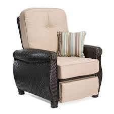 Wicker Reclining Patio Chair Reclining Outdoor Lounge Chairs Patio Chairs The Home Depot