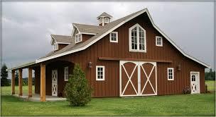 Metal Pole Barns Engrossing Horse Barn Style Houses In Metal Barn Homes Plans Metal