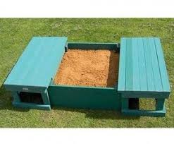 Badger Basket Covered Convertible Cedar Sandbox With Two Bench Seats Wood Sandbox With Cover Foter