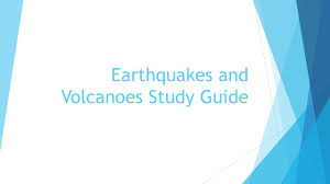 earthquakes and volcanoes study guide faults normal fault