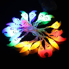 Halloween Safety Lights by Halloween 20 Led Ghost Colorful String Lights Garden Courtyard