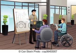 bureau reunion homme affaires réunion bureau bureau moderne clipart