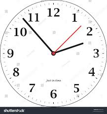 simple illustrated clock teaching time stock vector 2895242
