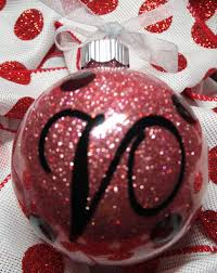 rose gold black glitter glass ball ornament personalized