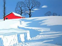 eyvind earle christmas cards limited edition prints eyvind earle path in snow walnut st