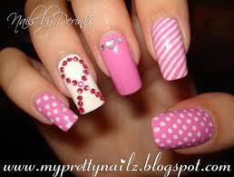 my pretty nailz think pink breast cancer awareness nail art