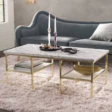 marble top cocktail table marble granite top coffee tables you ll love wayfair