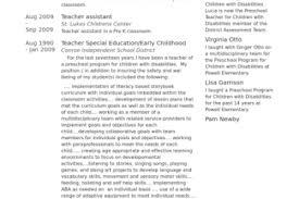 Teacher Assistant Resume Sample by Teacher U0027s Assistant Resume Sample Page 2 Teacher S Assistant