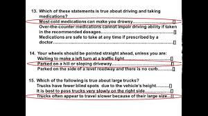 2017 dmv test permit actual test and answers part 4 youtube