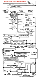 refrigerator wiring diagram u0026 white westinghouse refrigerator