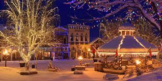 winter christmas town scene cheminee website