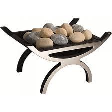 pulse fire basket including coal gas fire chrome grate