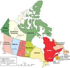 map of canada list of canadian provinces and territories by area