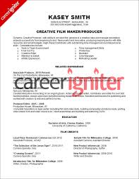film producer resume sample career igniter film resume template