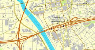 dayton map dayton ohio pdf map us vector city plan map