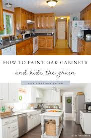 best paint to cover kitchen cabinets how to paint oak cabinets and hide the grain step by step