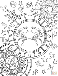 cancer colors zodiac cancer zodiac sign coloring page free printable coloring pages