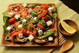 cuisine salade salade au saumon fumé ma cuisine santé