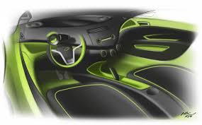 Interior Design Sketches by Chevrolet Spark Interior Design Sketch Car Body Design 17453 On