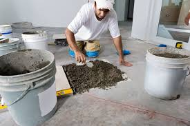 How To Paint A Tile Floor Bathroom - how to install cement board like durock or hardiebacker