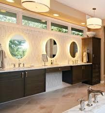 Backlit Bathroom Mirror by Backlit Bathroom Mirror Bathroom Modern With Round Bathroom Mirror