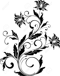 floral clipart flower ornament pencil and in color floral
