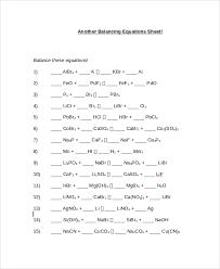 balancing equation worksheet worksheets