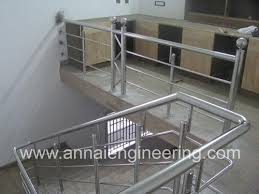 Stainless Steel Handrail Designs Designer Stainless Steel Handrail Annai Engineering Works