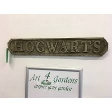 hogwarts sign our showroom sells garden ornaments and decorative