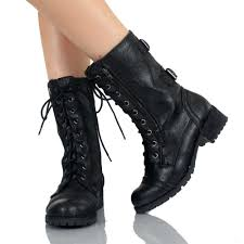womens combat boots size 9 black boots for orange black
