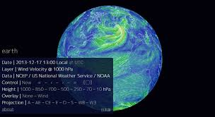 earth wind map mesmerizing earth wind map shows real time wind conditions around
