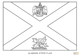 alabama state flag coloring page funycoloring