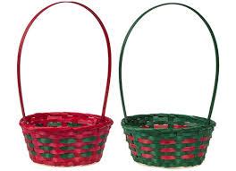 christmas basket 2 assorted christmas baskets with handles with hang tag angel