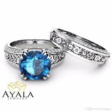 london blue topaz engagement ring 2018 london blue topaz engagement ring set 2 topaz bridal set