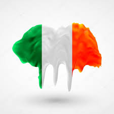 flag of ireland painted colors u2014 stock vector marynabolsunova