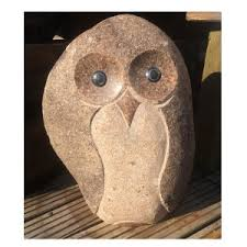 owl with marble 50cm