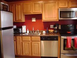 Kitchen With Red Appliances - kitchen wall color ideas with oak cabinets think carefully done