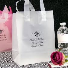 personalized wedding gift bags 8 x 10 custom printed frosted plastic gift bags set of 25