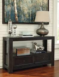 ashley gavelston end table ashley t752 4 gavelston two drawer sofa table rubbed black finish