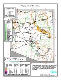Map Of Arizona State by Download Free Arizona Wind Energy Maps