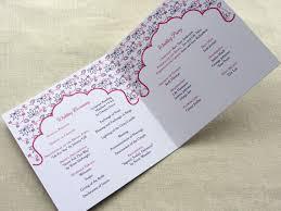 wedding program sles wording indian wedding program floral lotus ceremony program