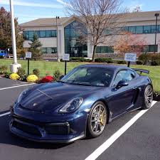 porsche maritime blue porsche cayman gt4 painted in dark blue metallic photo taken by