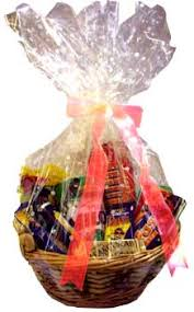 gift basket wrapping view basket