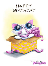 funny cat birthday card by kingzoidlord on deviantart