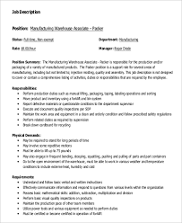warehouse associate job description warehouse associate resume